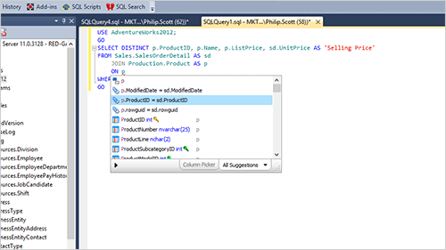 Code effortlessly with SQL Prompt, our SQL development tool for autocompletion and intellisense