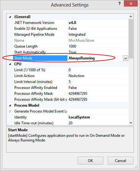 Speeding up your application with the IIS Auto-Start feature