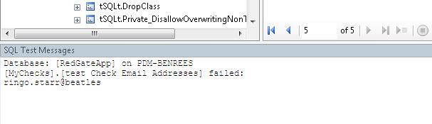 24 SQL Test message