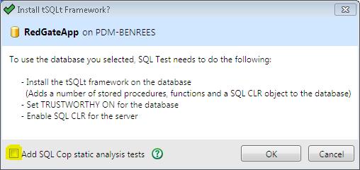 5 SQL Test options