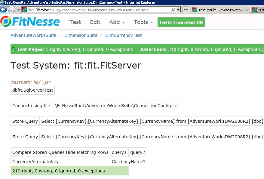 C:\WorkArea\Nat\SQL\Blog\SimpleTalk\DbFit\Images\ValidateDimCurrencyTestCaseSuccessful.png