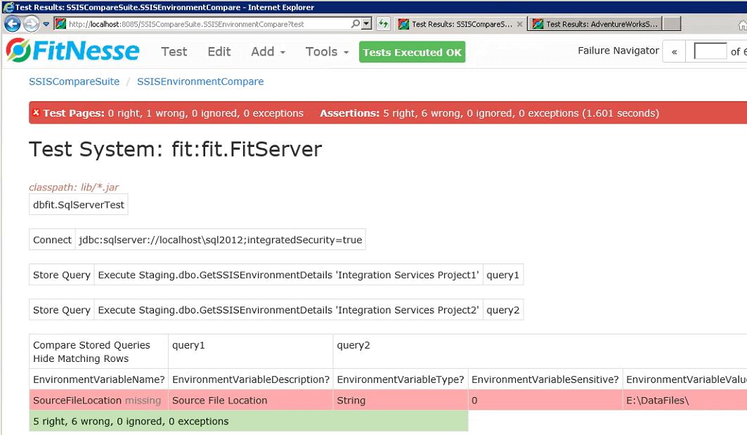 C:\WorkArea\Nat\SQL\Blog\SimpleTalk\SSIS Compare\Image\MissingTargetEnvironmentVariableTestCaseFailure.png