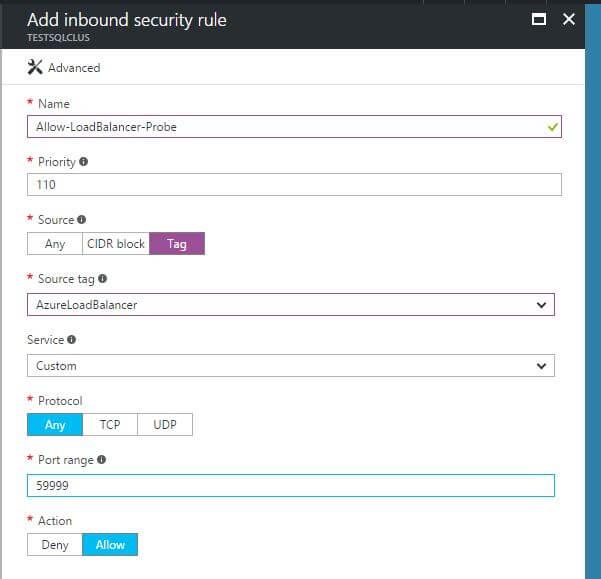 Azure Load Balancers and SQL Server