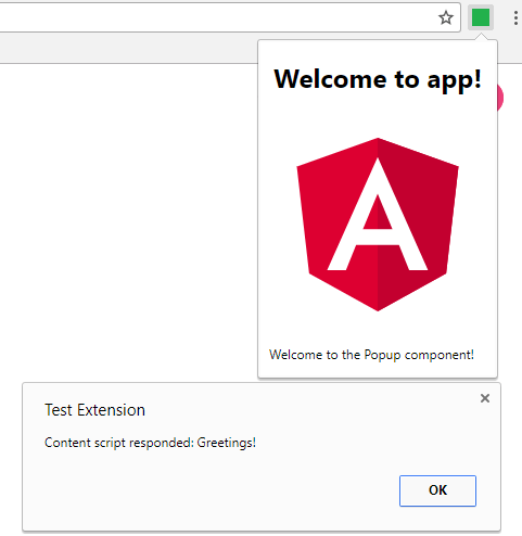 Developing a Google Chrome Extension using Angular 4