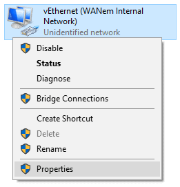 Set an IP address on the host for Remote Desktop Connection.