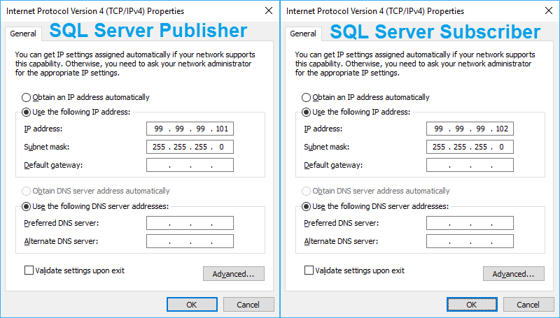Set static IP addresses for your virtual SQL Servers.