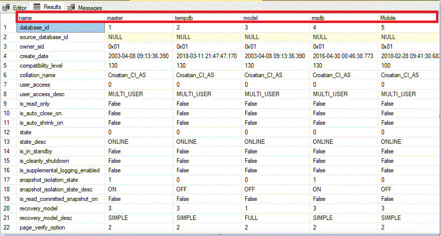 An Easier Way of Transposing Query Result in SQL Server