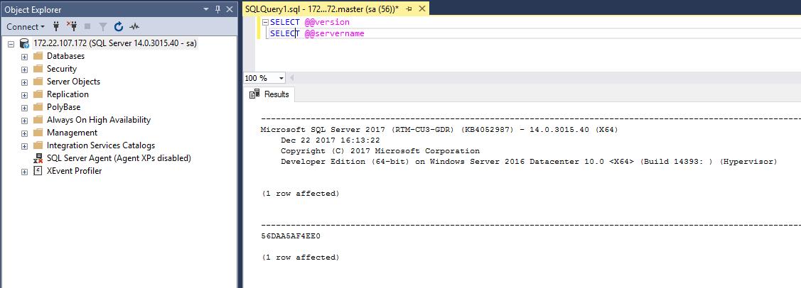 使用Docker设置SQL Server实例