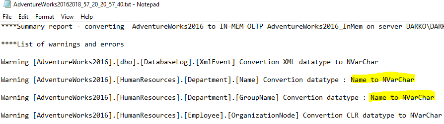 word image 19 Converting a Database to In Memory OLTP