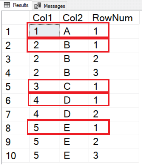 how to use row_number in where clause in sql server