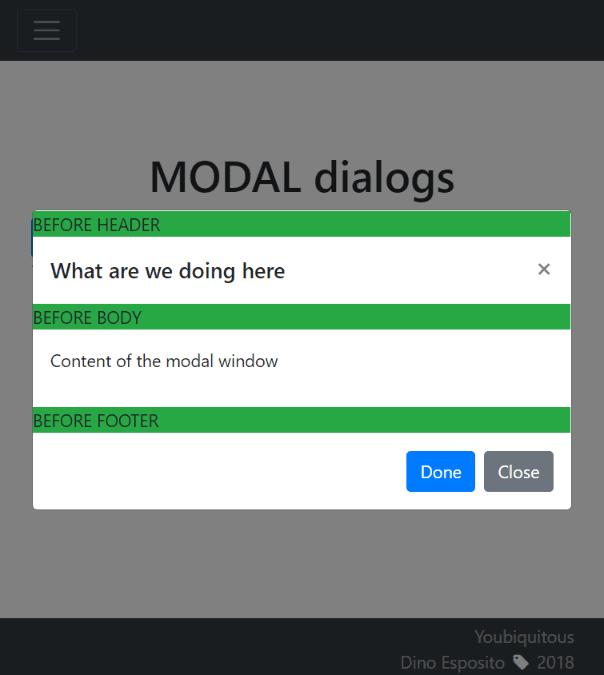 bootstrap 4 modal popup