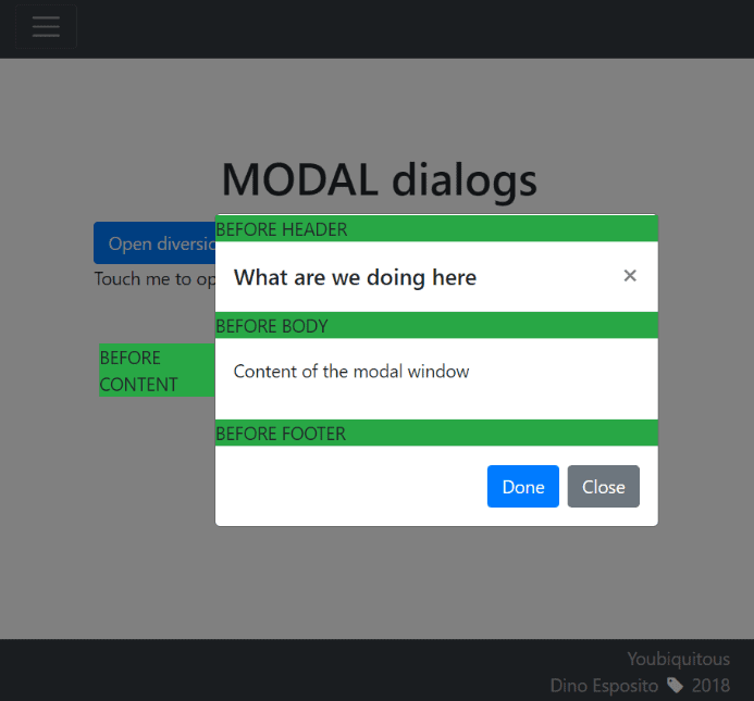 Using Modal Dialog Boxes in Bootstrap 4 - Simple Talk