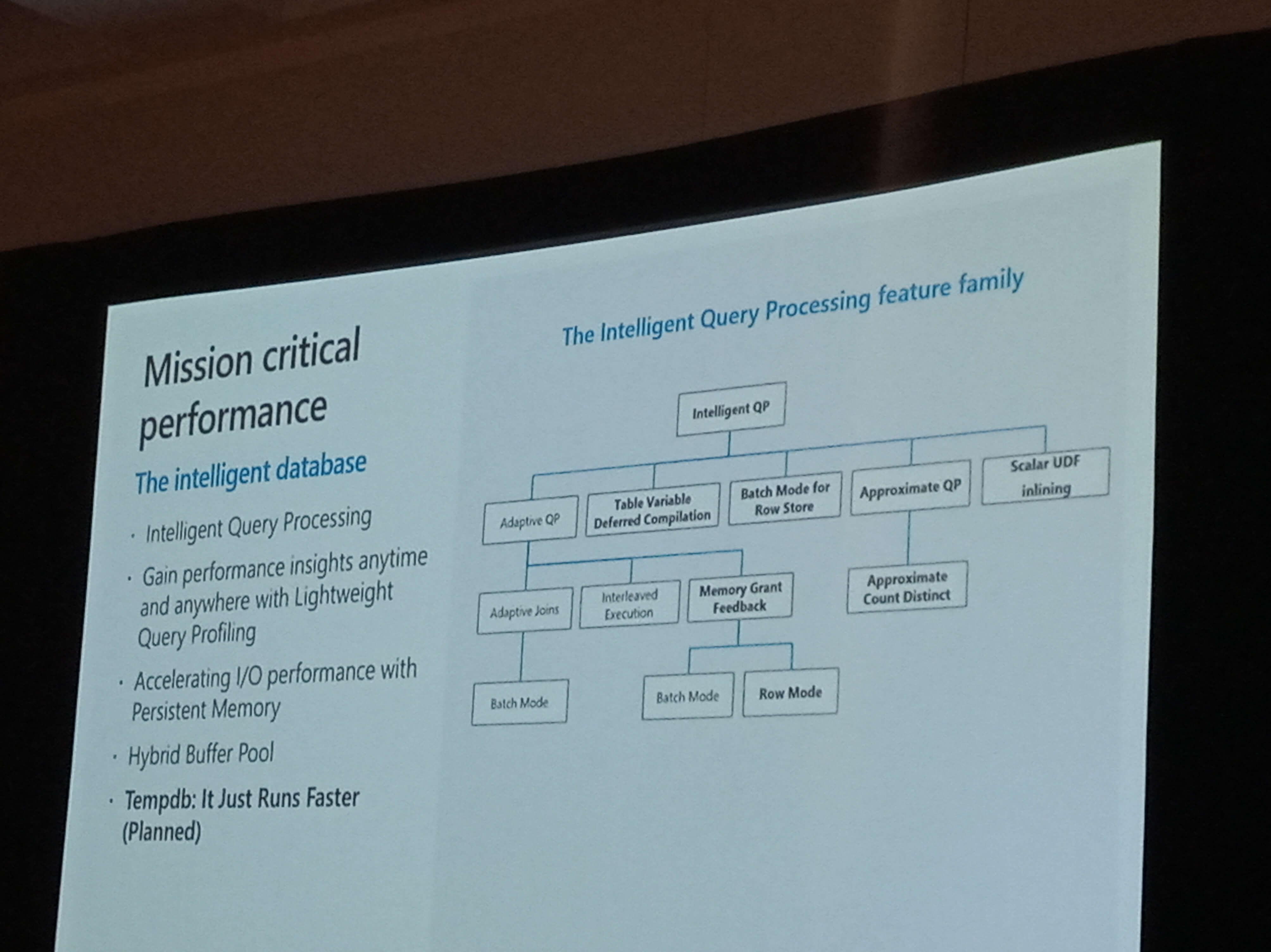 PASS Summit Intelligent Query Processing