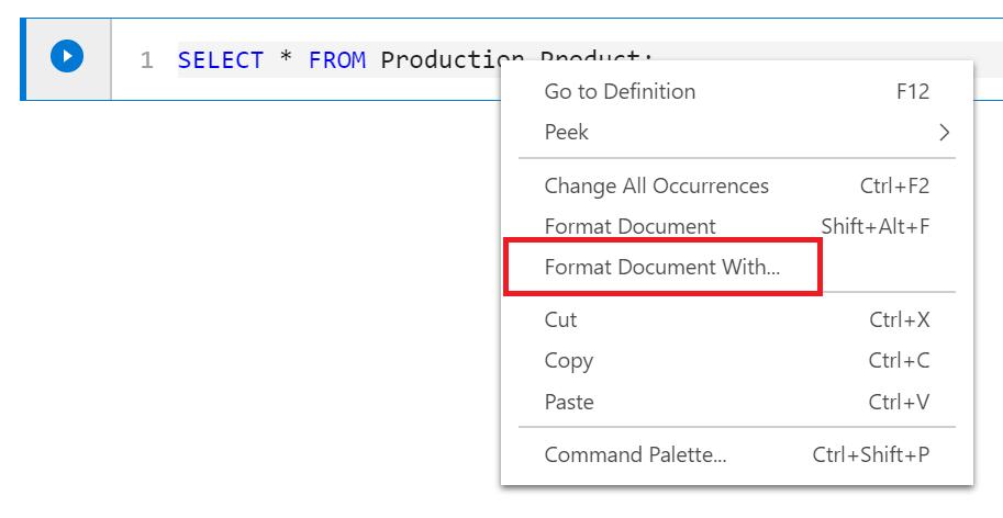 Using Azure Data Studio with SQL Prompt