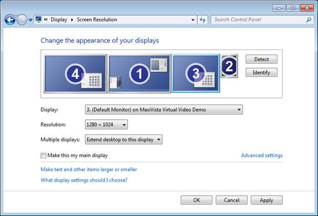 Zonescreen virtual display