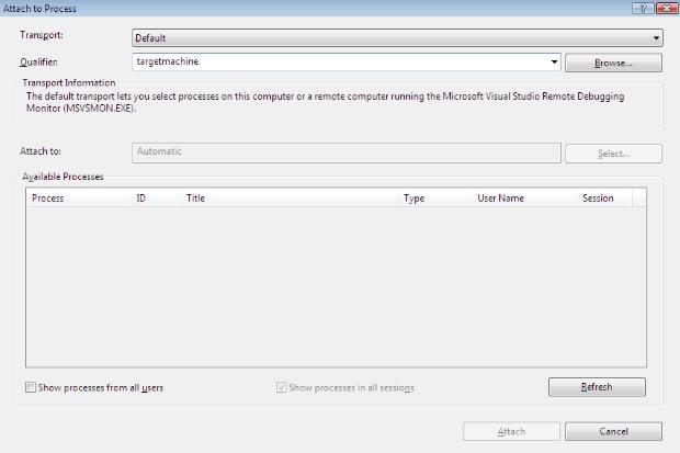 remote debug attach to process