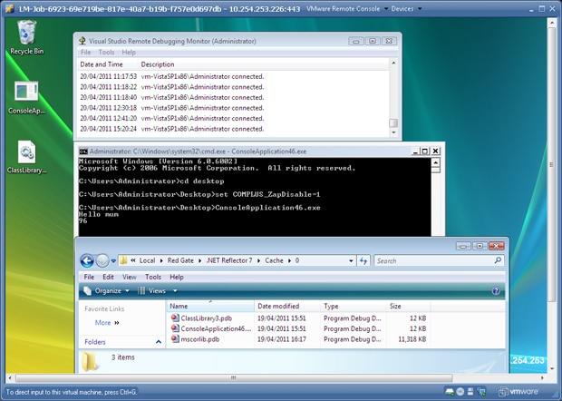 remote debug running on VM