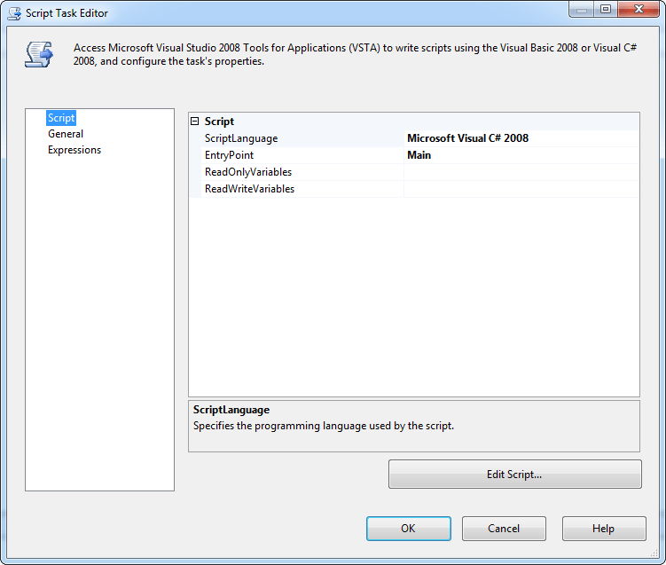 Adding the Script Task to Your SSIS Packages - Simple Talk