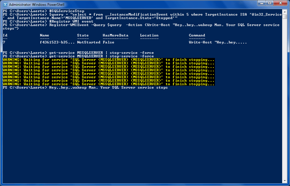 Using PowerShell and WMI Events Queries for Powerful Notifications