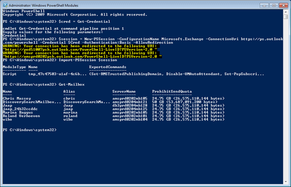 Setting up the Remote Powershell