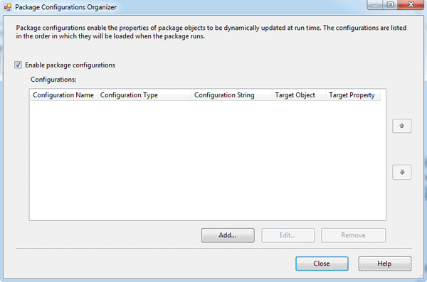 The Package Configuration Organizer in SSIS
