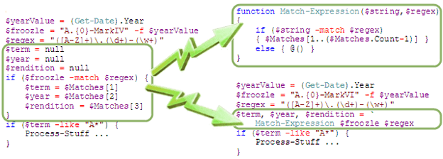 Refactoring inline code to a function