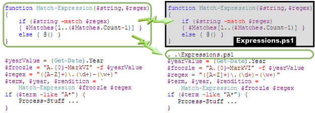 Refactoring an inline function to a separate file