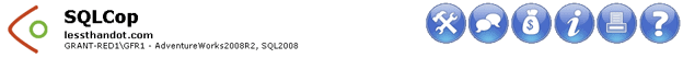 SQLCop Toolbar