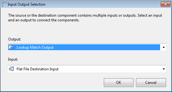 Selecting an output for the Lookup transformation