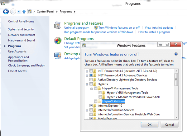 SLAT is not supported on this laptop hence Hyper-V Platform is not available