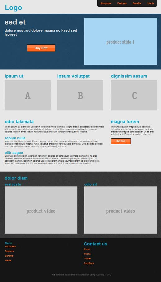 responsive design using foundation with asp net mvc simple talk