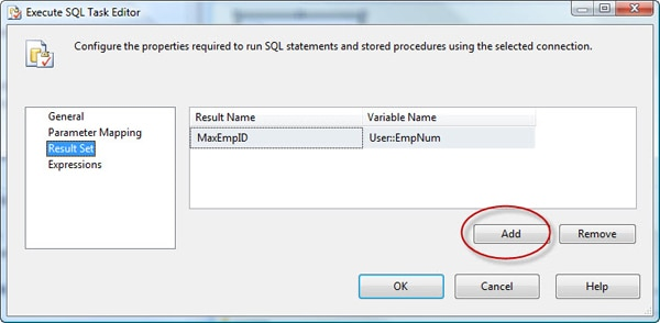 SSIS Basics: Using the Execute SQL Task to Generate Result