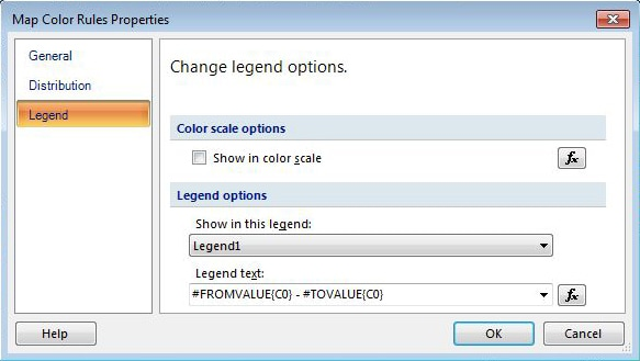 Configuring the legend for your polygon layer
