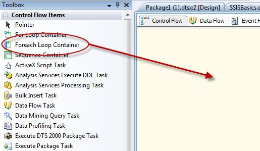 SSIS BASICS: Introducing the Foreach Loop Container - Simple