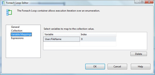 Configuring the Variables Mapping page