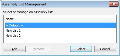 Assembly list manager