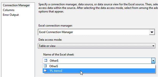 You can now specify the data source