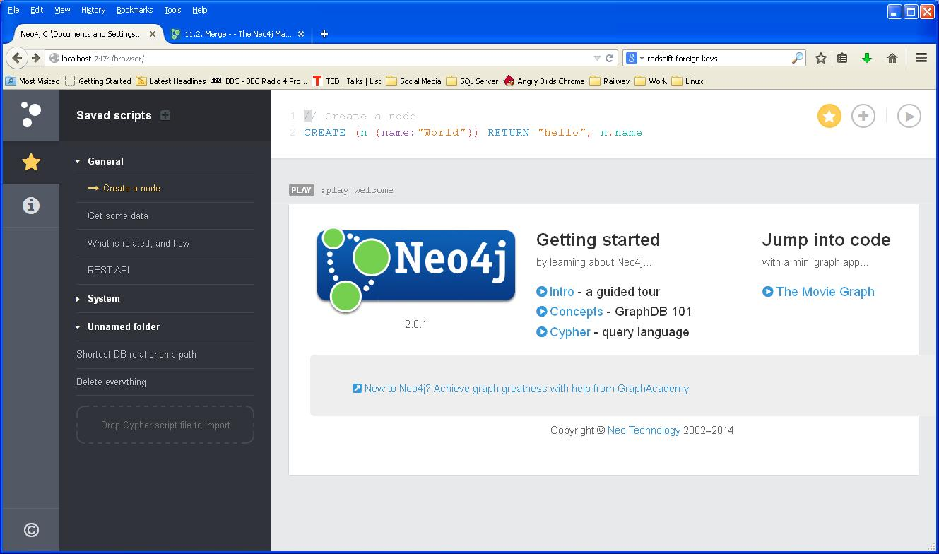 Experiments with NEO4J: Using a graph database as a SQL Server