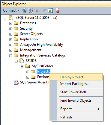 SSIS 2012 Projects: Setup, Project Creation and Deployment