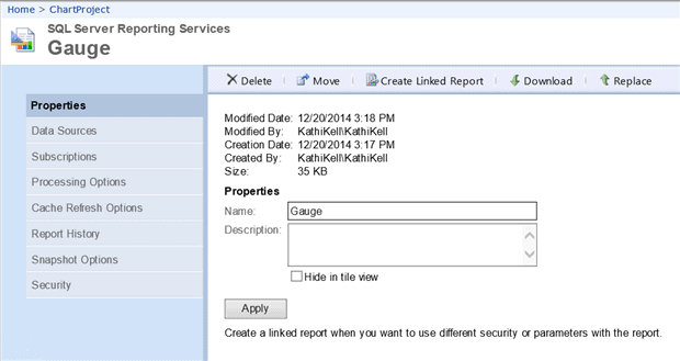 SQL Server Reporting Services Basics: Deploying Reports
