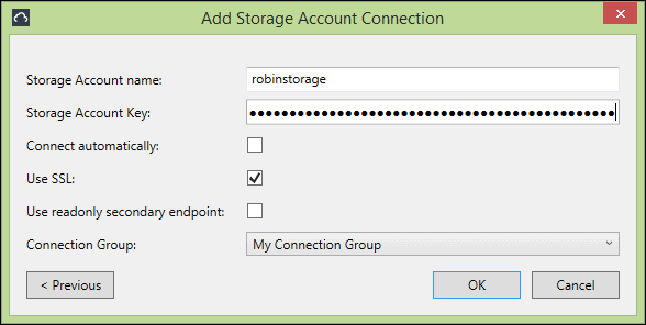 how to connect to azure blob storage