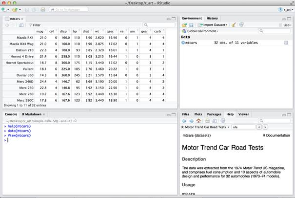 SQL and R