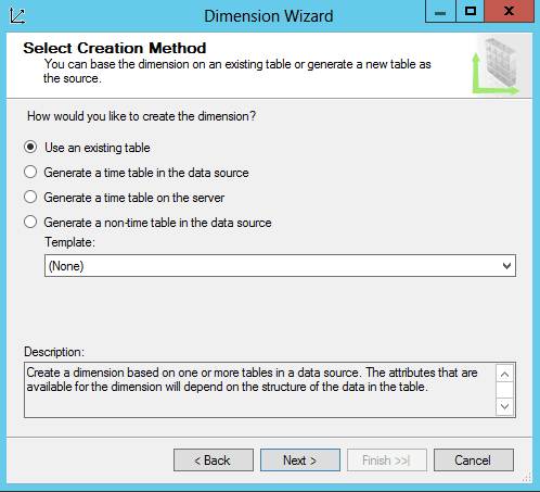 Creating a Date Dimension in an Analysis Services (SSAS