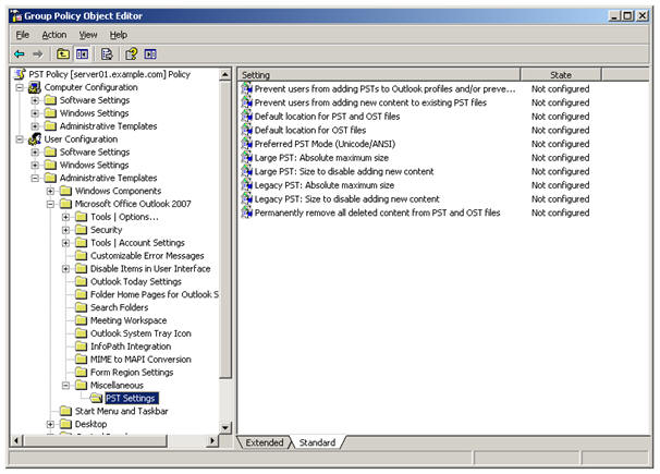 how to read pst files in outlook 2007