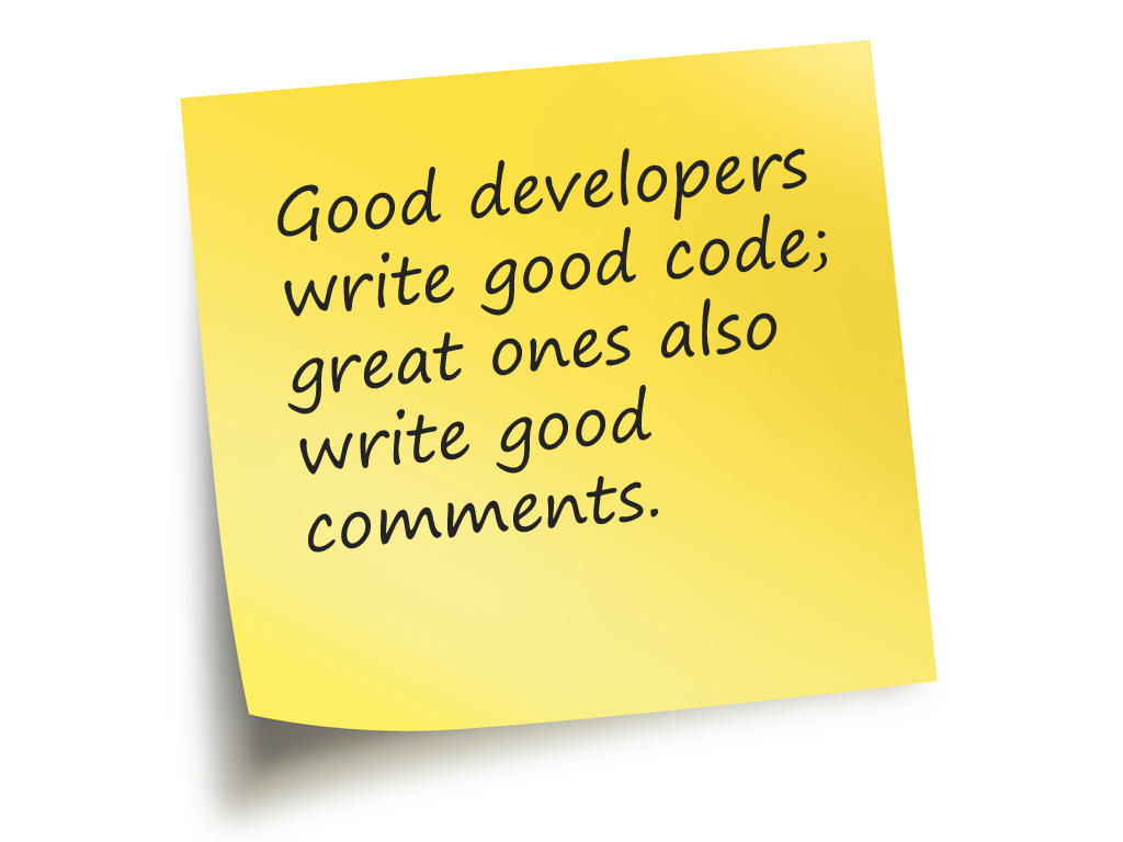 how to make comments the most important code you write all