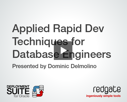 applied rapid development techniques for database engineers