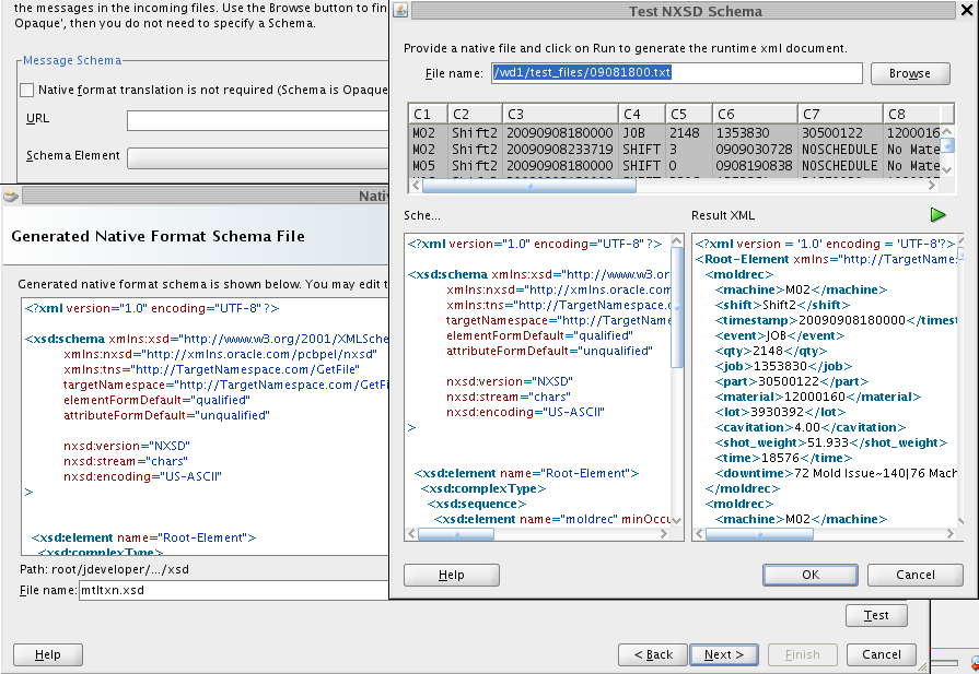 Test it by automatically converting to XML Visually inspect the result to see that it is properly formed