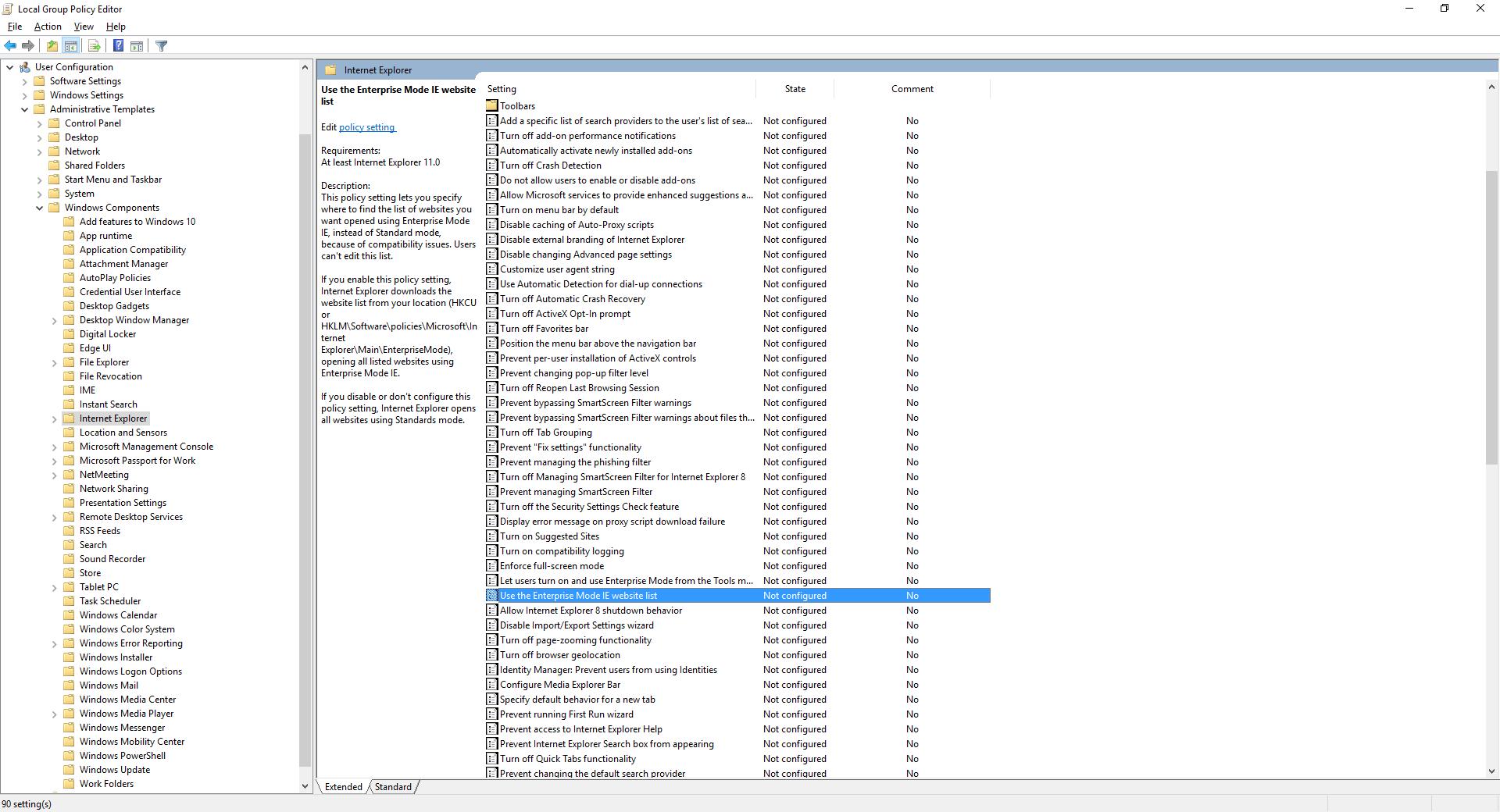 Running Siebel CRM on Non-Standard Versions of Internet Explorer