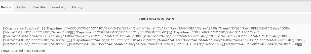 JSON For Absolute Beginners: Part 5 – Generating JSON in Oracle