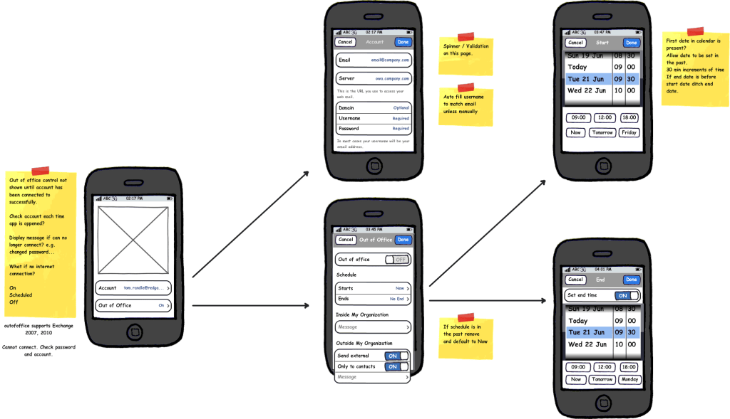 Out of Office App Design (Second Iteration)